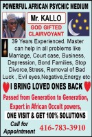 African Psychic Master Kallo