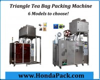 Pyramid tea bag packing machine for triangle shaped biodegradable pla nylon tea bag packaging