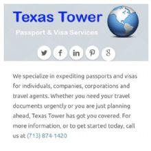 Texas Tower Passport & Visa Services