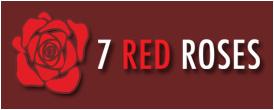 Seven Red Roses Flower Design
